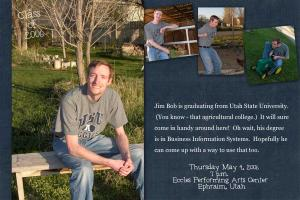 Jim Bob's Graduation Announcement